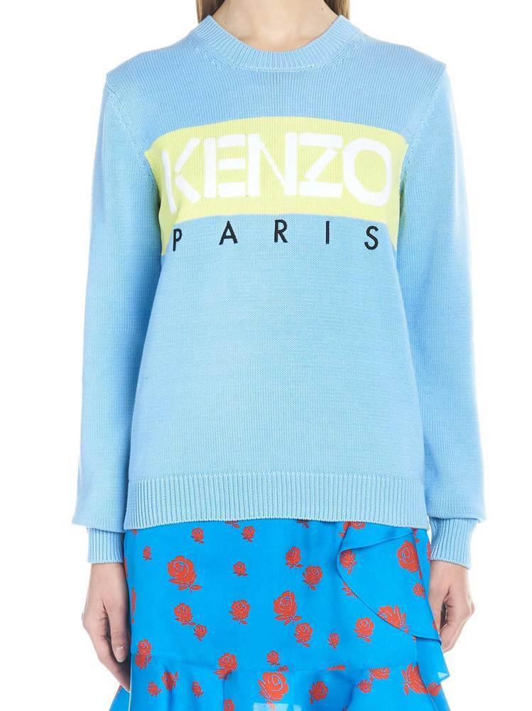 2f8c6aa4 Lyst - KENZO Paris Logo Sweater in Blue - Save 8%