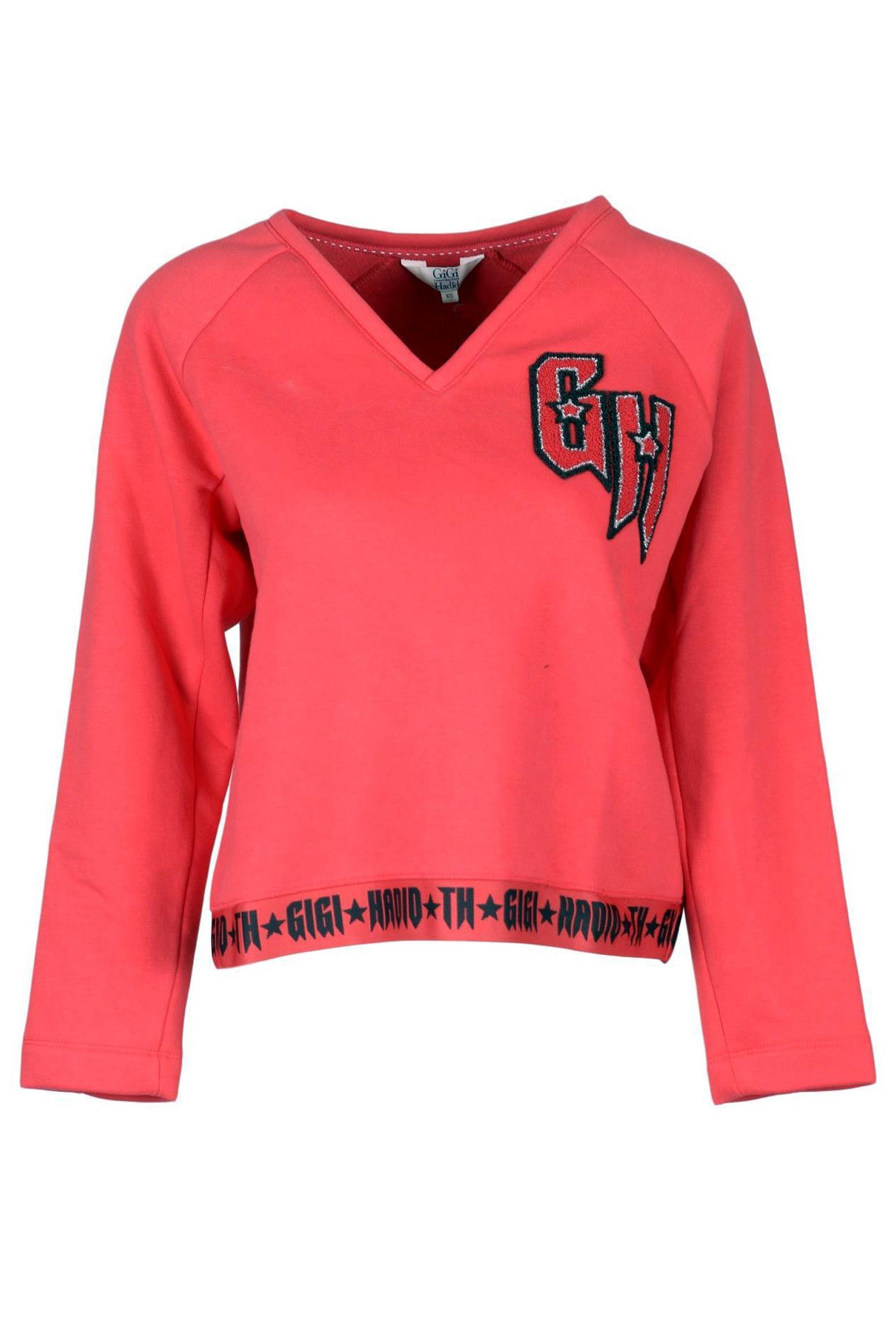 17494e91 Lyst - Tommy Hilfiger X Gigi Hadid Logo Sweater in Red