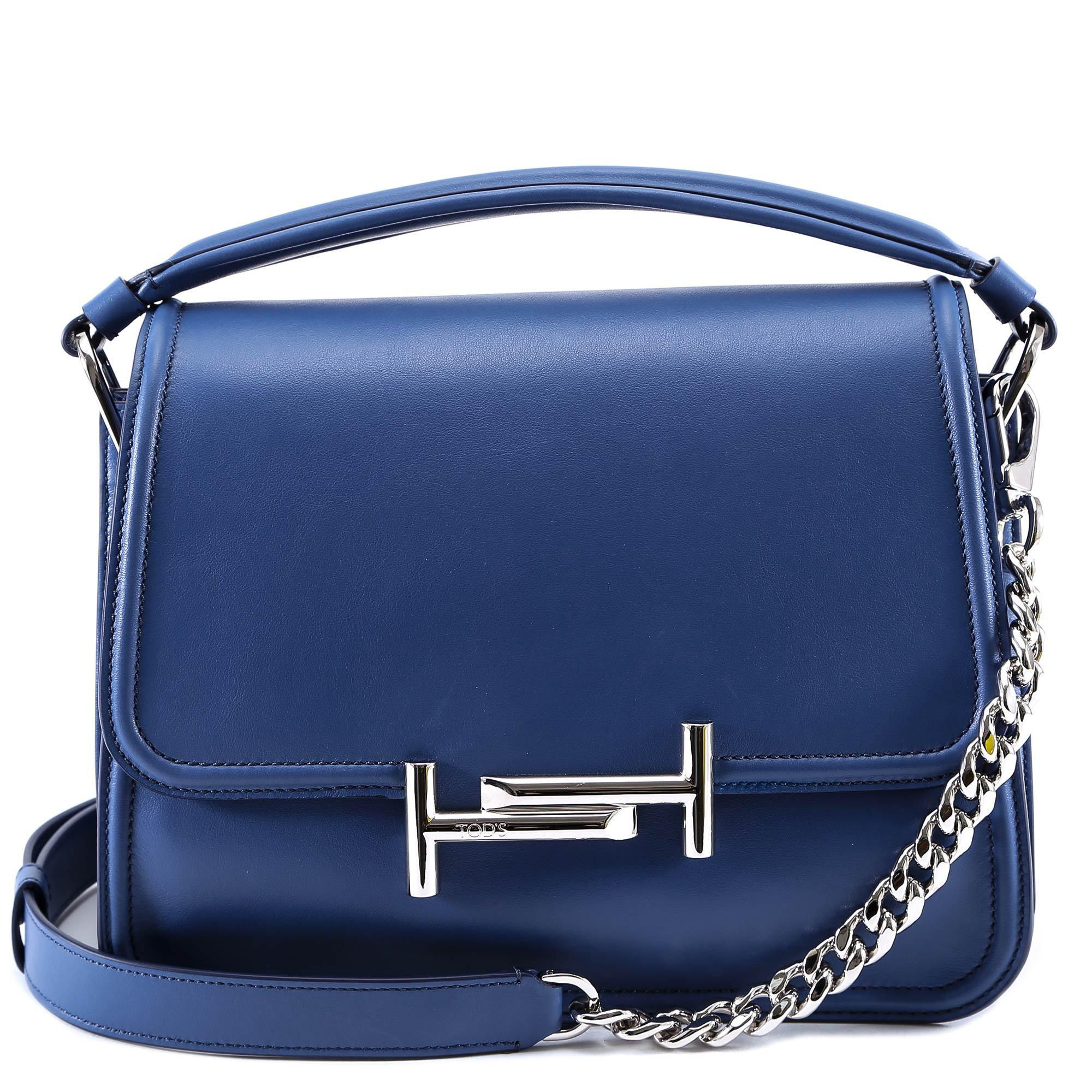 02b240d985 Tod's Small Double T Bag in Blue - Lyst