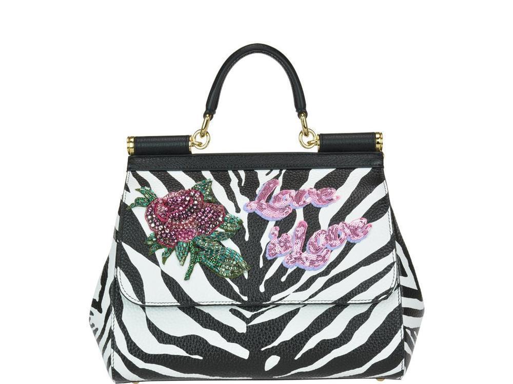 3a33adb323a7 Dolce   Gabbana. Women s Sicily Zebra Print Tote Bag