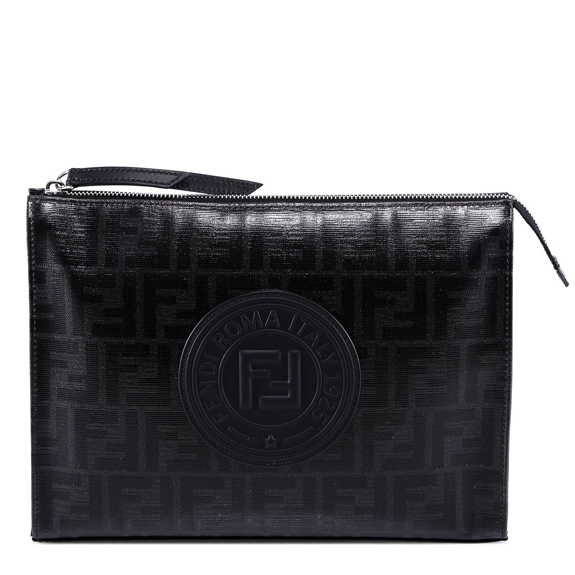 Lyst - Fendi Monogram Clutch in Black for Men - Save 12% 148c77c094653