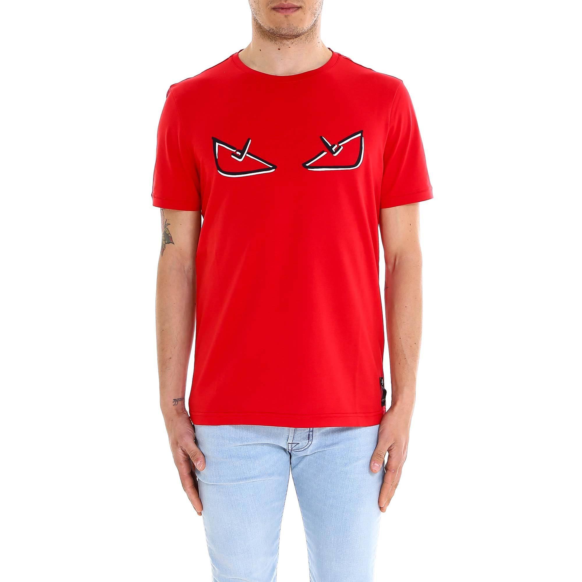 c7e1627b8 Fendi Bag Bugs T-shirt in Red for Men - Lyst