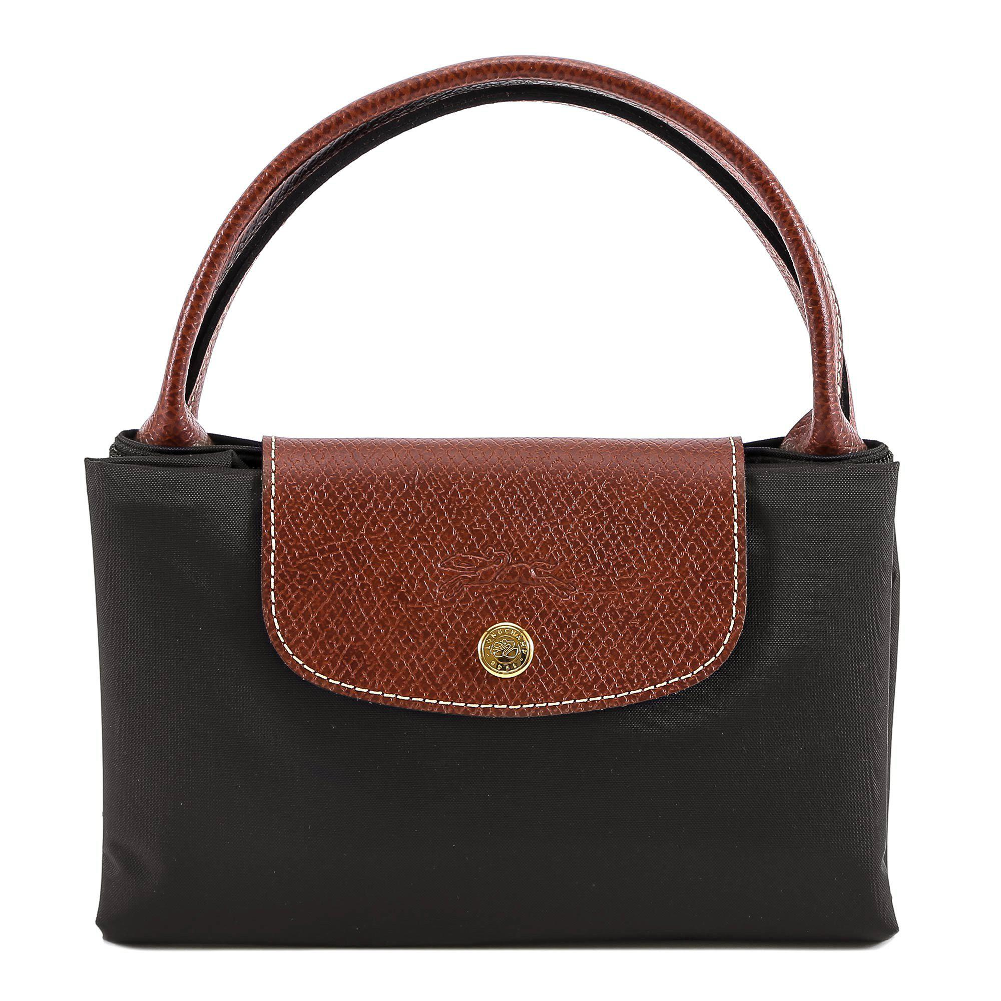 Longchamp Le Pliage M Top Handle Bag in Gray - Lyst 2823a4c66e6b0