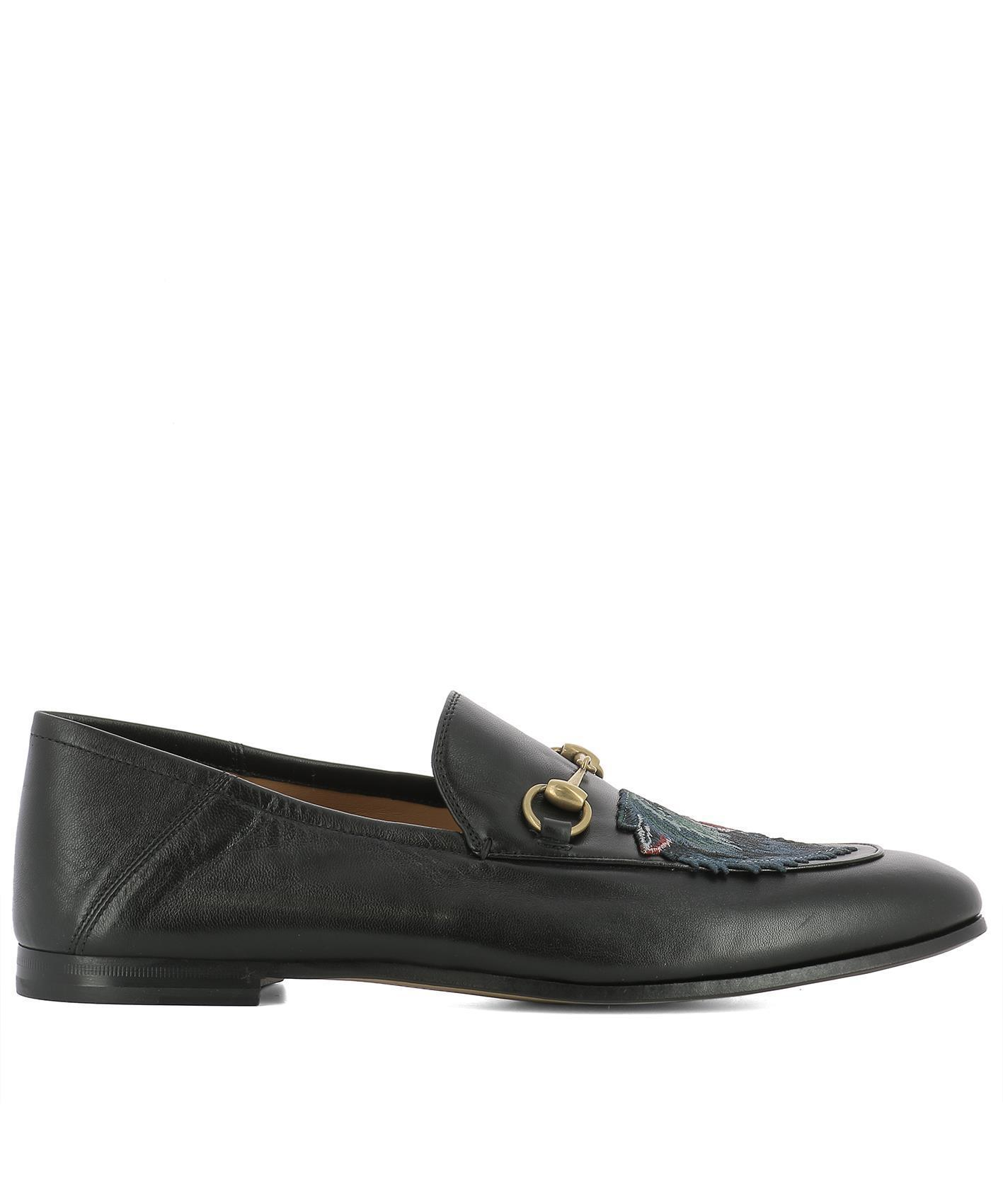 0c4dd8f7e30 Gucci Patched Loafers in Black for Men - Save 2.07253886010362% - Lyst