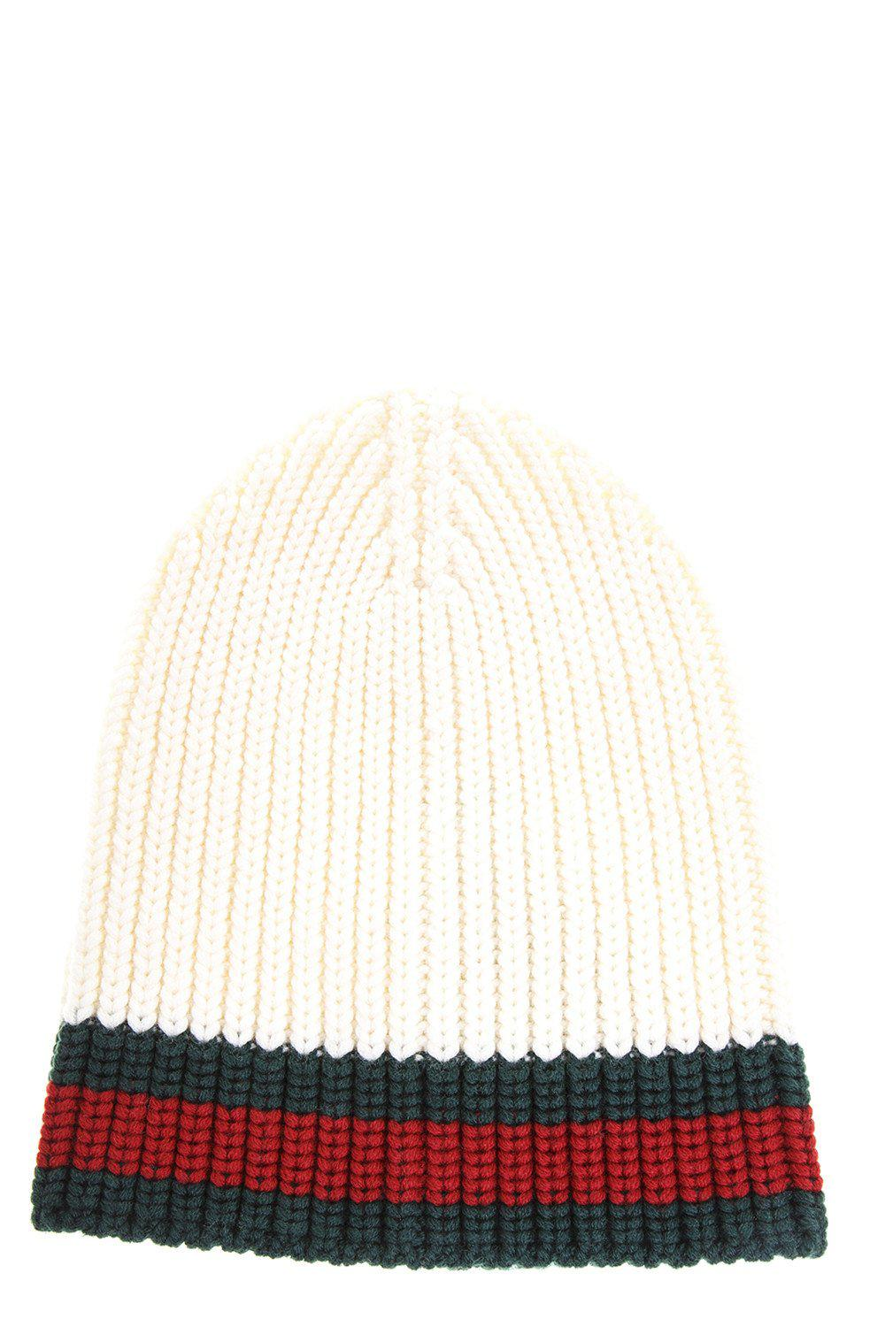 31870024 Lyst - Gucci Cable Knit Beanie Hat in White for Men