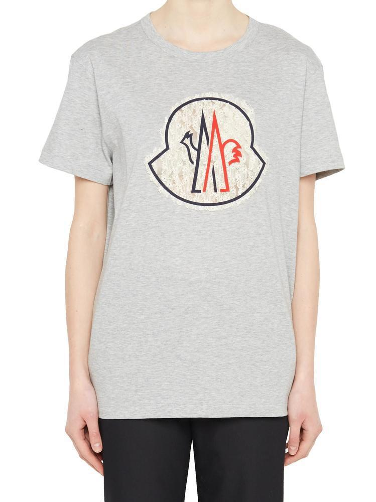9f1caf0bc604 Moncler Gamme Rouge Logo T-shirt in Gray - Lyst