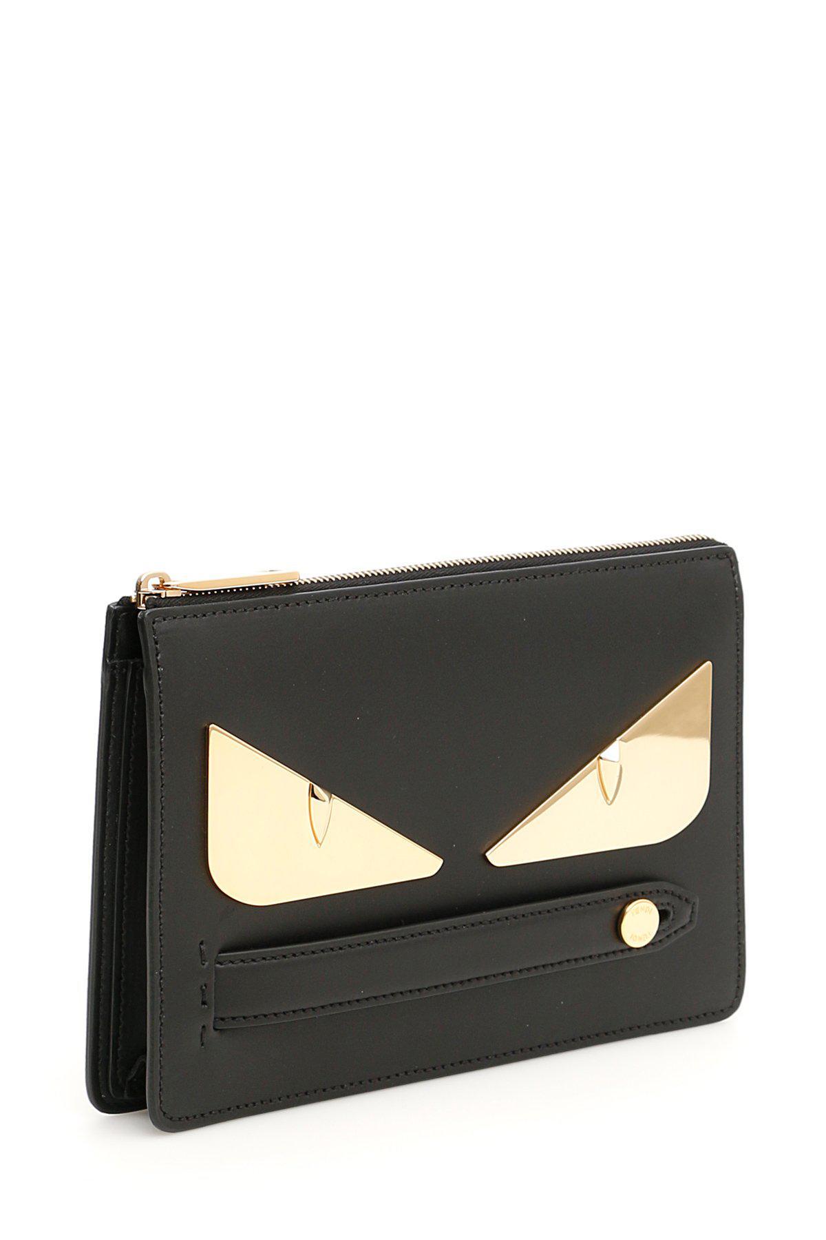 Lyst - Fendi Bag Bugs Clutch in Black 50d4f96f6dfaa