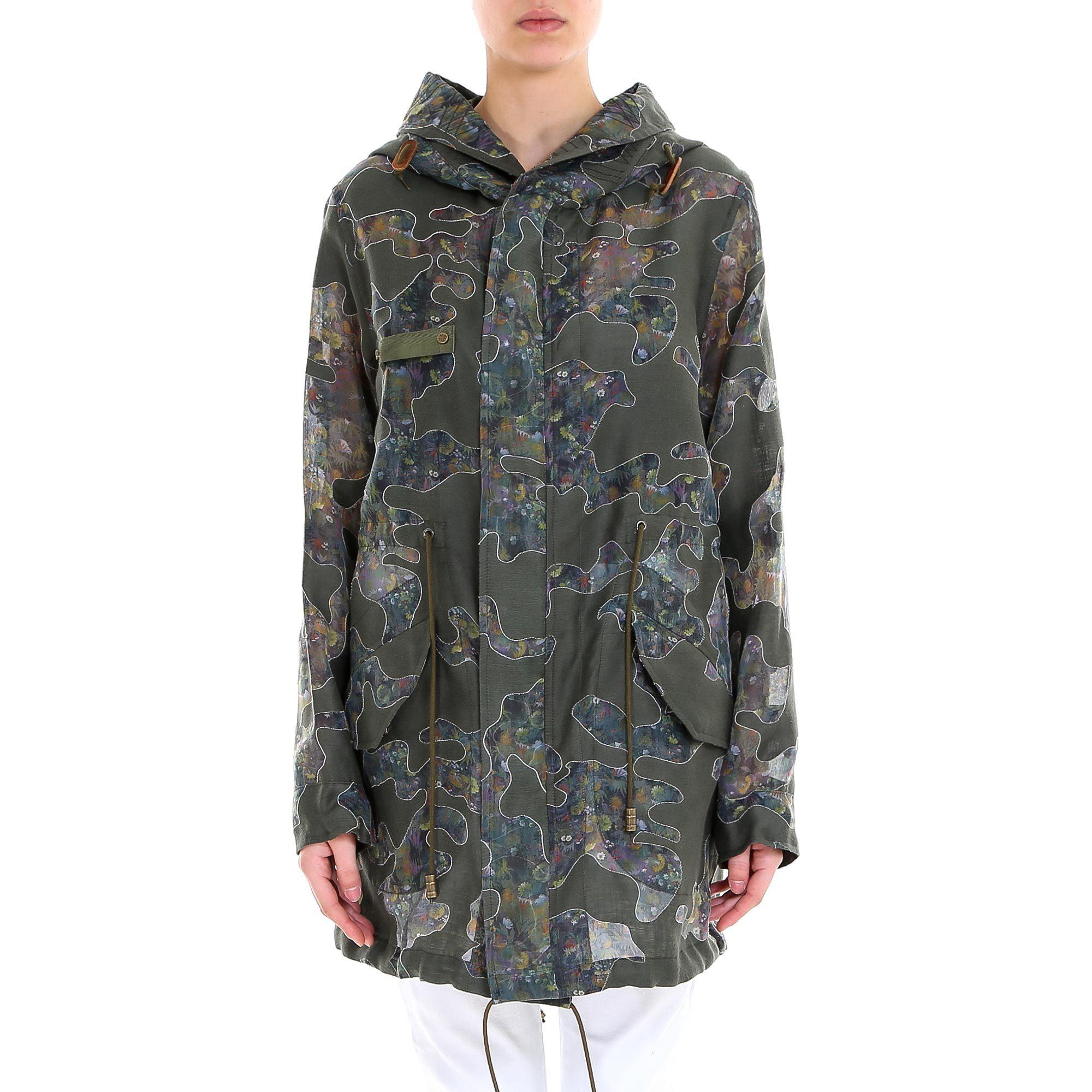 271b8b96395aa Lyst - Mr & Mrs Italy Camouflage Hooded Jacket in Green