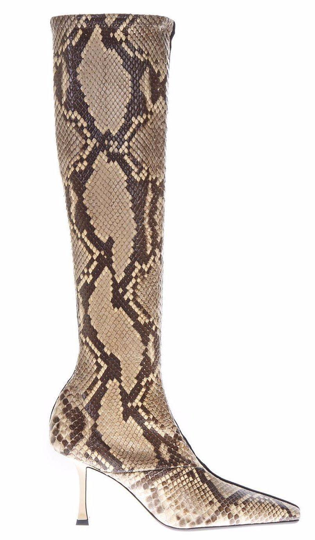 46f3af07cc8 Céline Python Print Boots in Brown - Lyst
