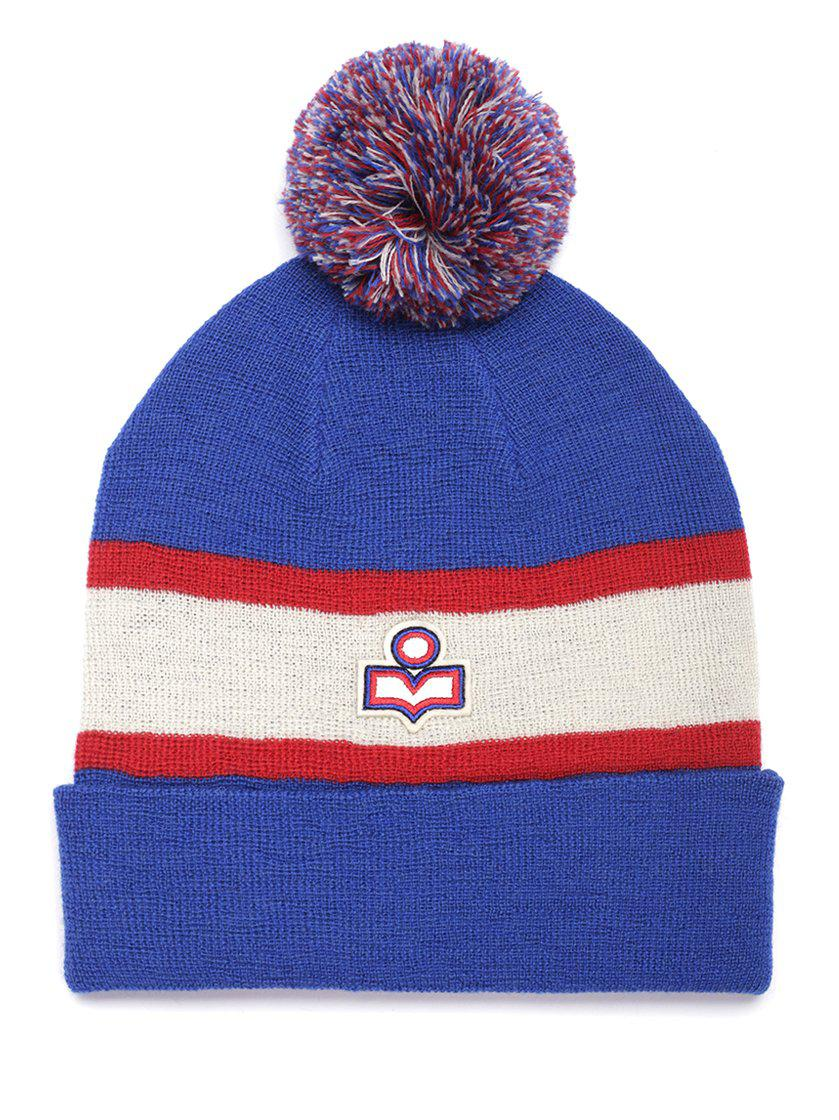 713a23ce4577 Isabel Marant Pom-pom Detailed Beanie in Blue - Lyst