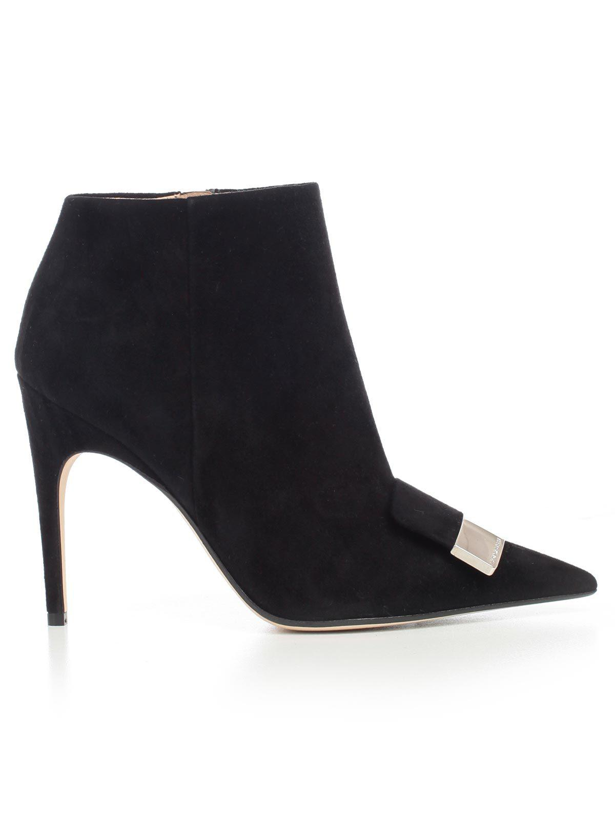 285450055f4 Sergio Rossi High-heels Ankle Boots in Black - Lyst
