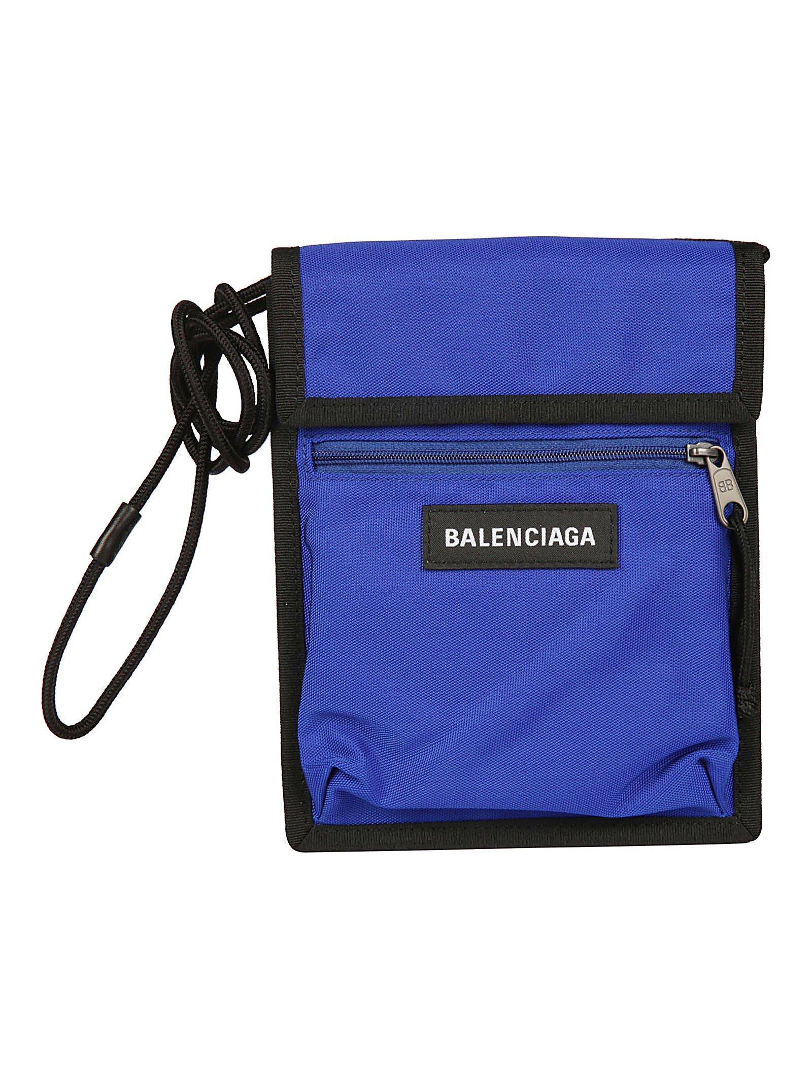 Lyst - Balenciaga Explorer Logo Crossbody Bag in Blue for Men bb86c3eecf913