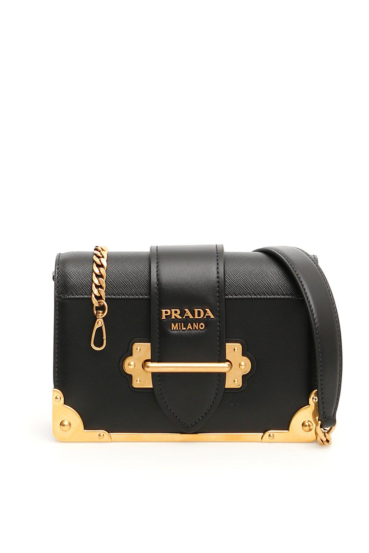 14ba2ad5b7ec Lyst - Prada Cahier Shoulder Bag in Black
