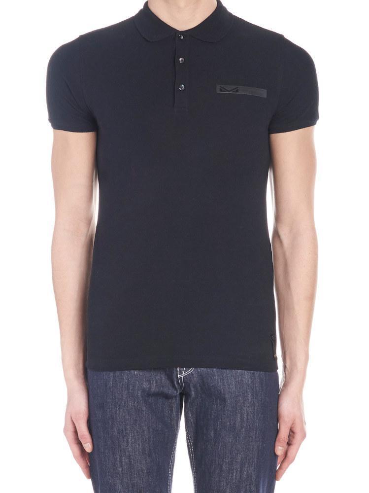d6367c1f51dd Lyst - Fendi Pocket Detail Polo T-shirt in Black for Men