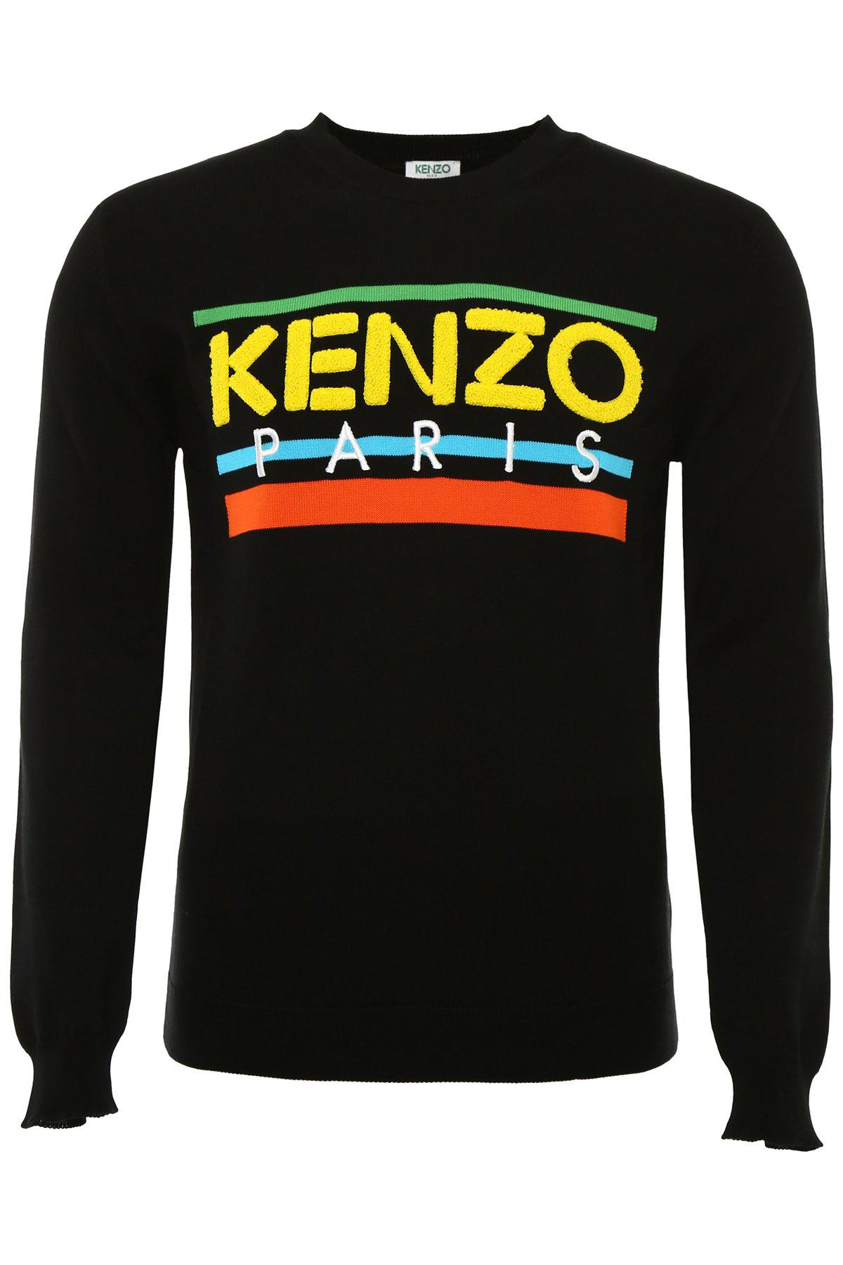 bd74a5ca KENZO Paris Sweater in Black for Men - Lyst