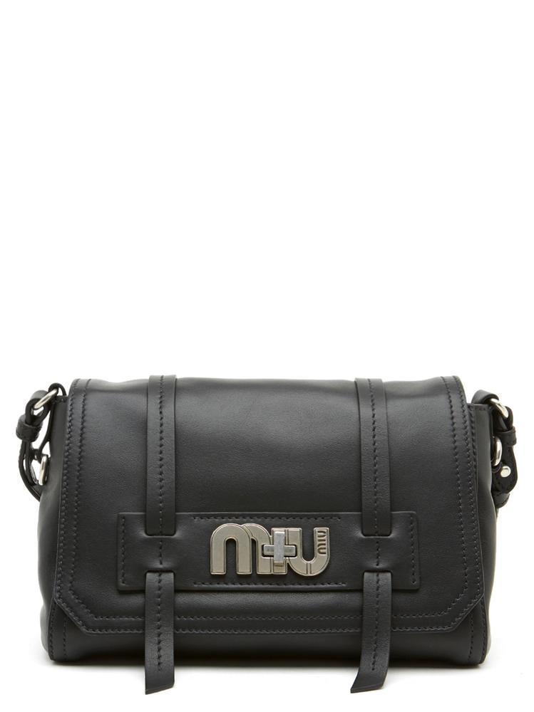 Miu Miu Logo Crossbody Bag in Black - Lyst 8842659707
