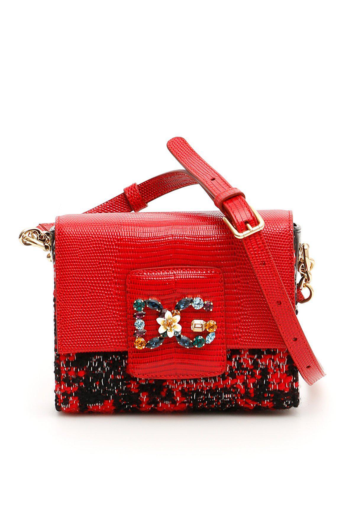 Dolce   Gabbana Mini Dg Millennials Crossbody Bag in Red - Save 38 ... 5bd24935ab9d5