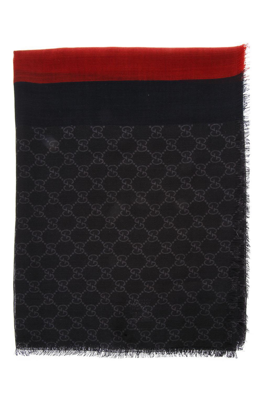 1110c8d67 Gucci Stripe GG Supreme Scarf in Black for Men - Lyst