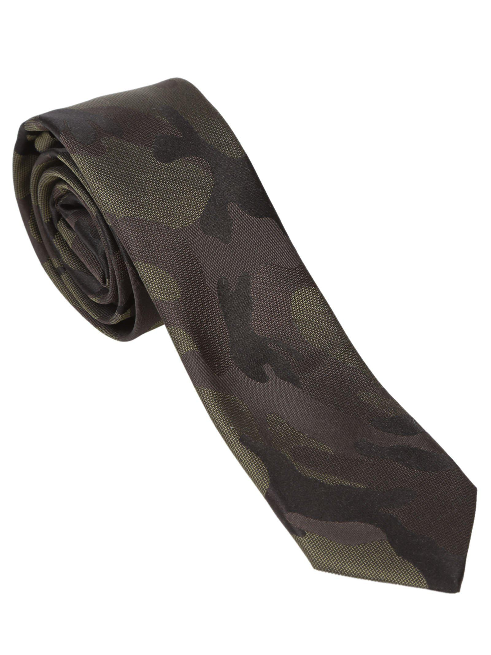 2ab1fb168ff Valentino Tonal Camouflage Tie in Black for Men - Lyst