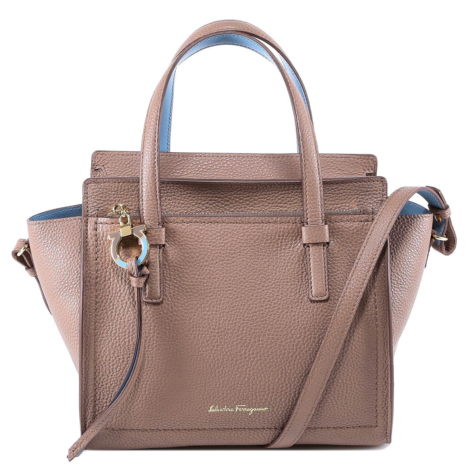 938c46adb458 Lyst - Ferragamo Amy Leather Shoulder Bag in Gray