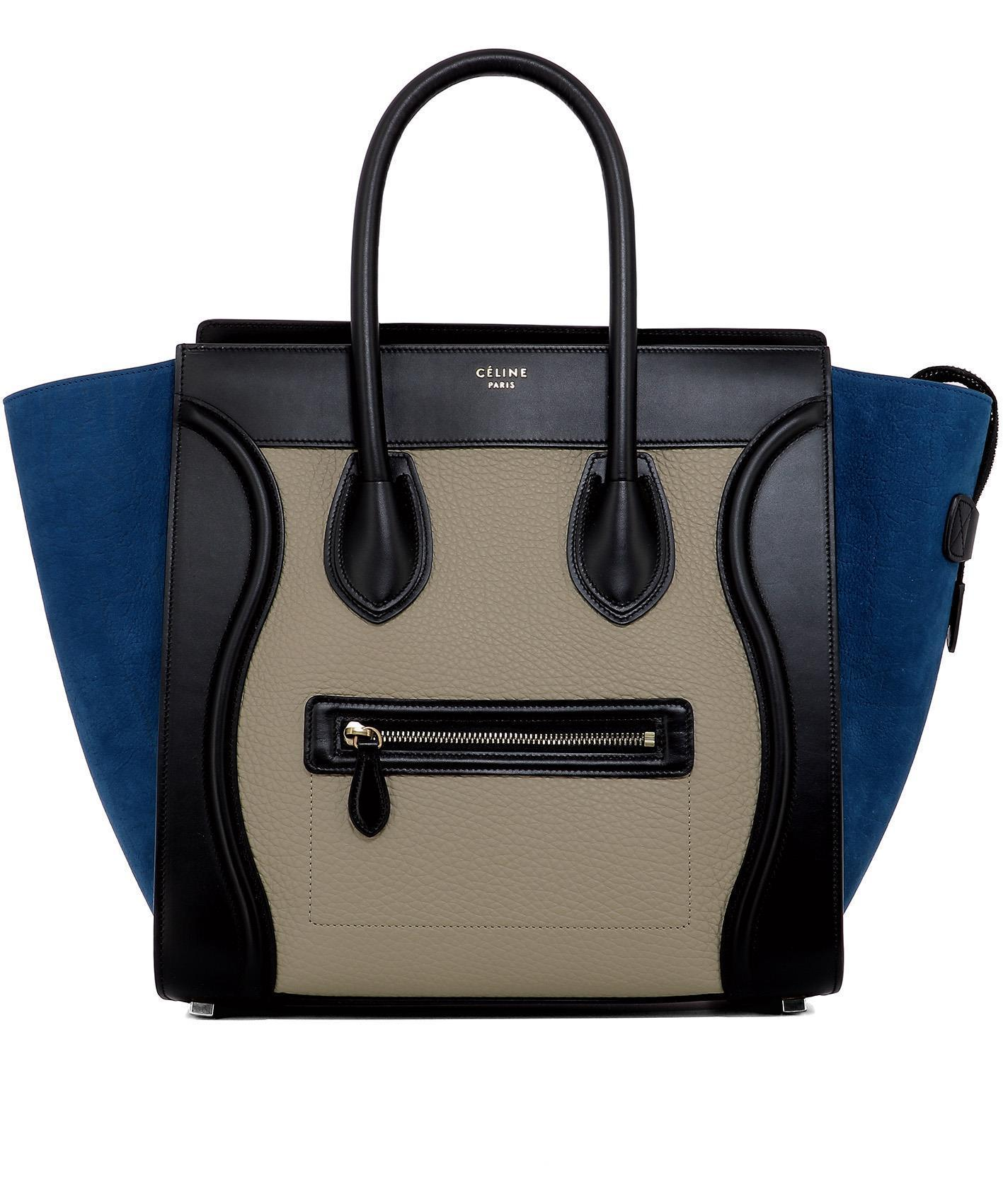 7b905221a04d Céline Luggage Tote Bag in Black - Lyst