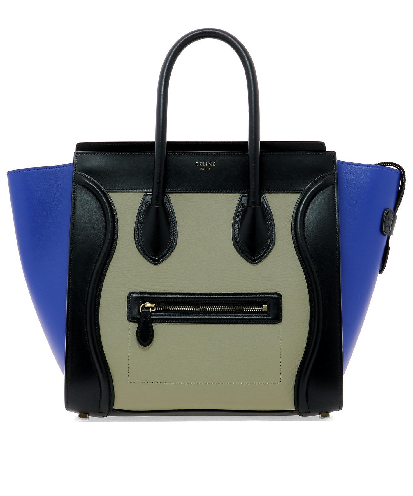 Lyst - Céline Luggage Tote Bag in Blue aadfcb0e02395