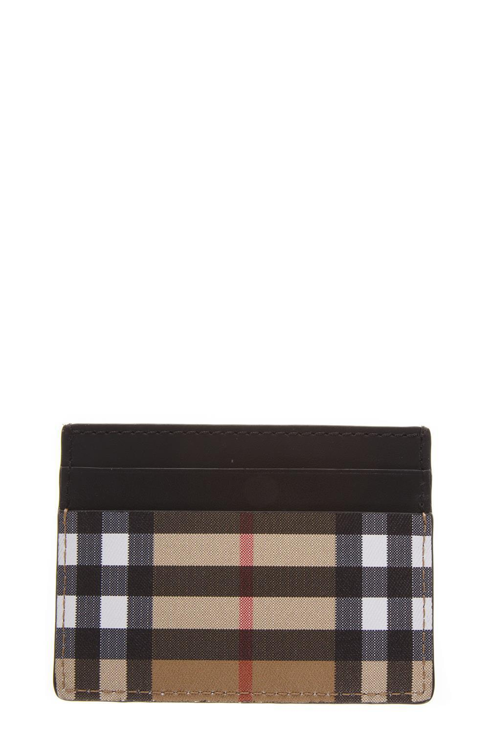 eee85bb56d6 Burberry Sandon Leather Card Holder in Black - Save 27% - Lyst