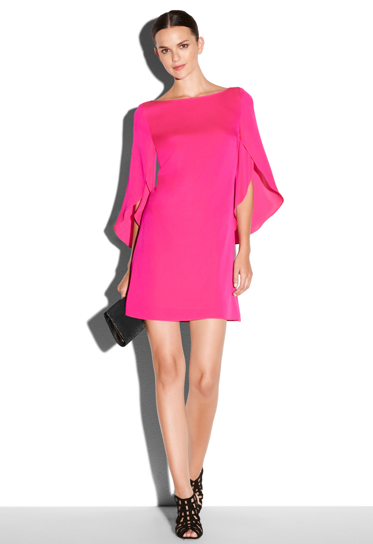 Milly Butterfly Dress in Pink | Lyst