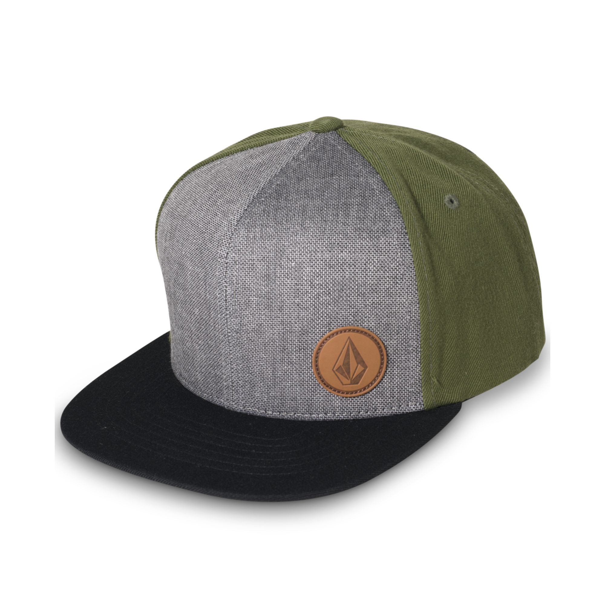 Lyst - Volcom Upper Corner Stone Snapback Hat in Green for Men 54ecf9641ed