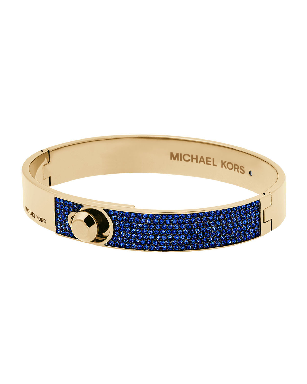 f98d9578883db Lyst - Michael Kors Parisian Jewels Fold-over Bracelet in Blue