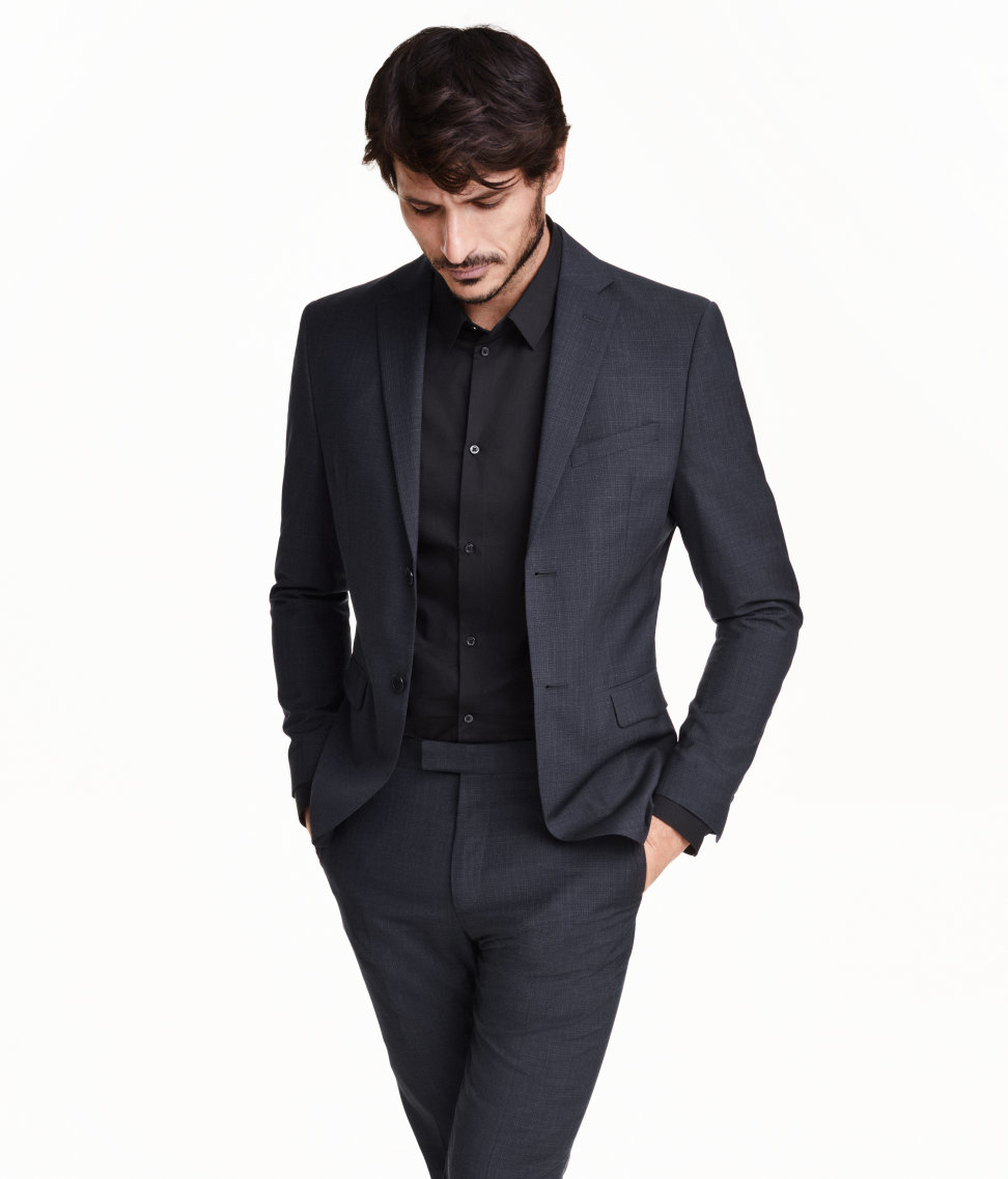 a8a9640c7406a4 Lyst - H M Marled Wool Jacket in Blue for Men
