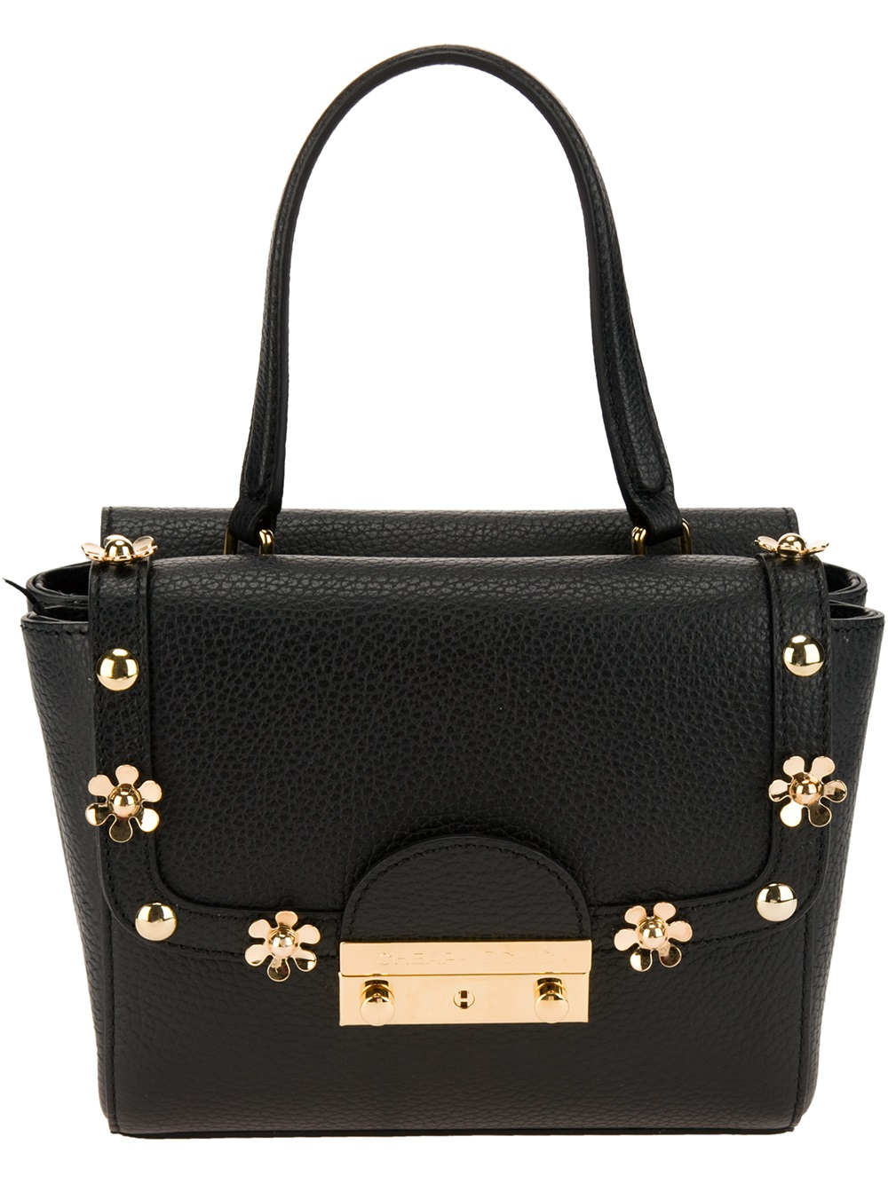 Moschino cheap chic floral studded shoulder bag in black Inexpensive chic