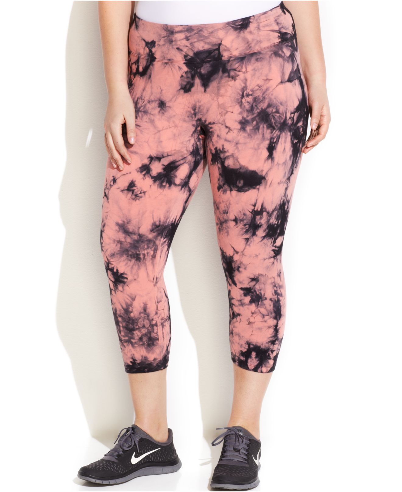 ef230a05896 Lyst - Calvin Klein Performance Plus Size Tie-Dye Capri Leggings in ...