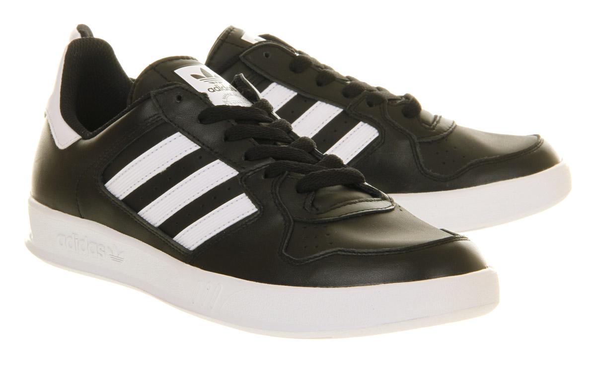 Lyst Adidas Tennis Court Top Black Run White In Black