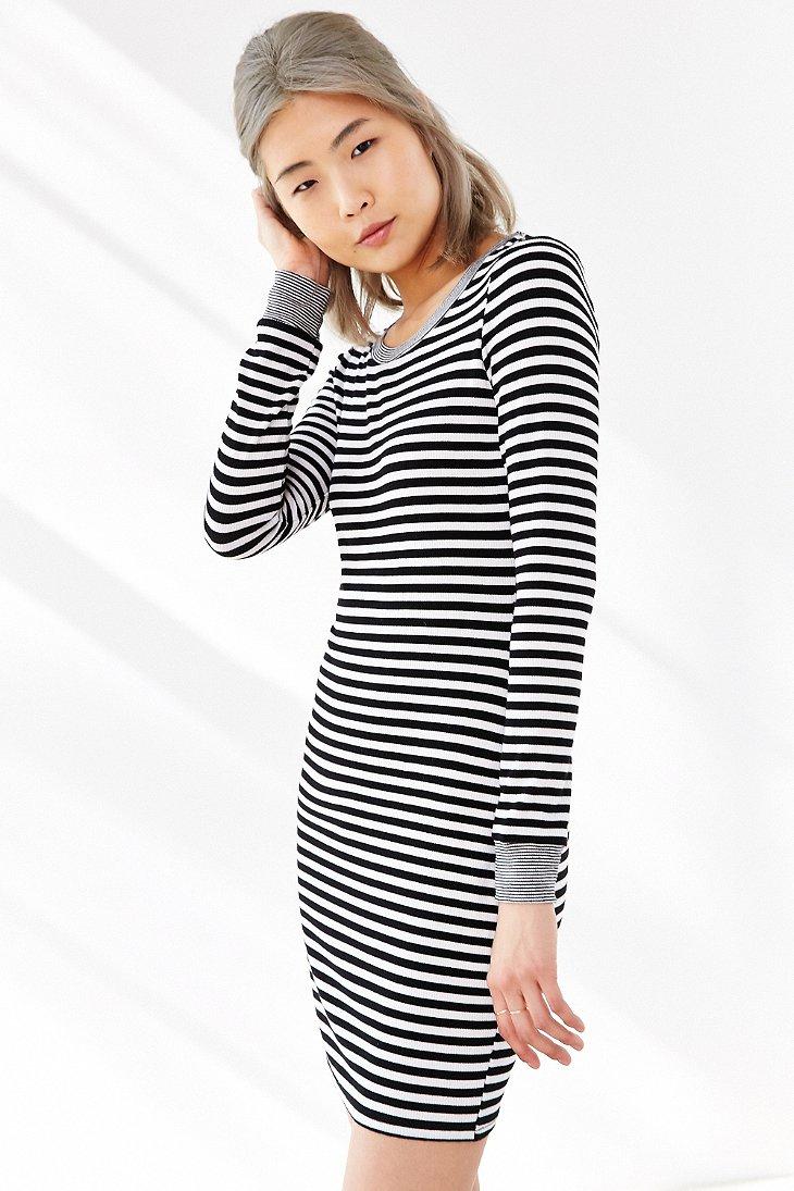 9fed085bc2cf Black And White Striped Dress Long Sleeve