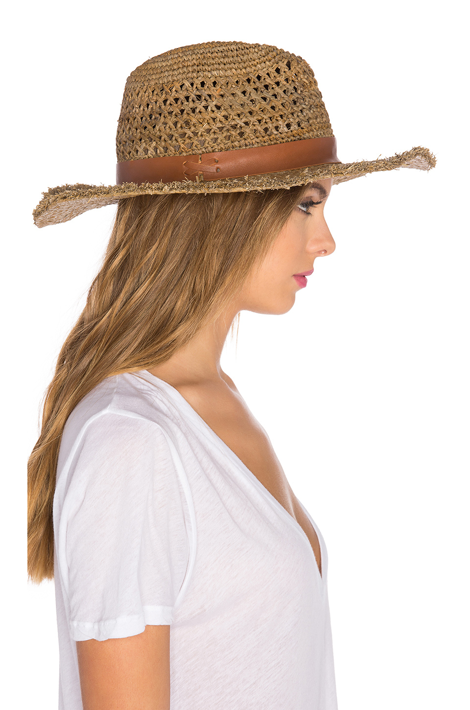 020270bf04c Lyst - Hat Attack Raffia Cane Weave Continental Hat in Brown