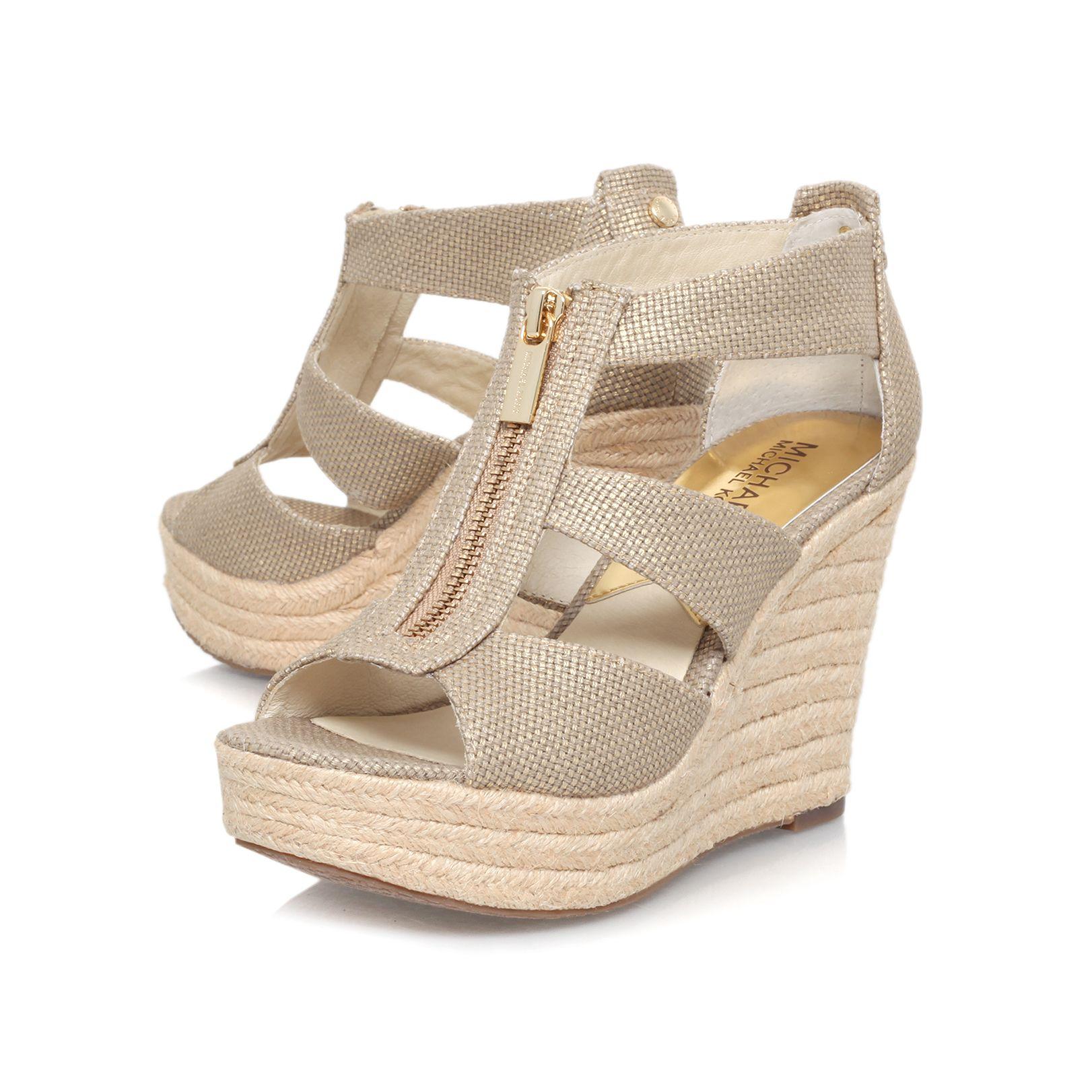 Cheap mother michael michael kors damita wedge sandals that look expensive