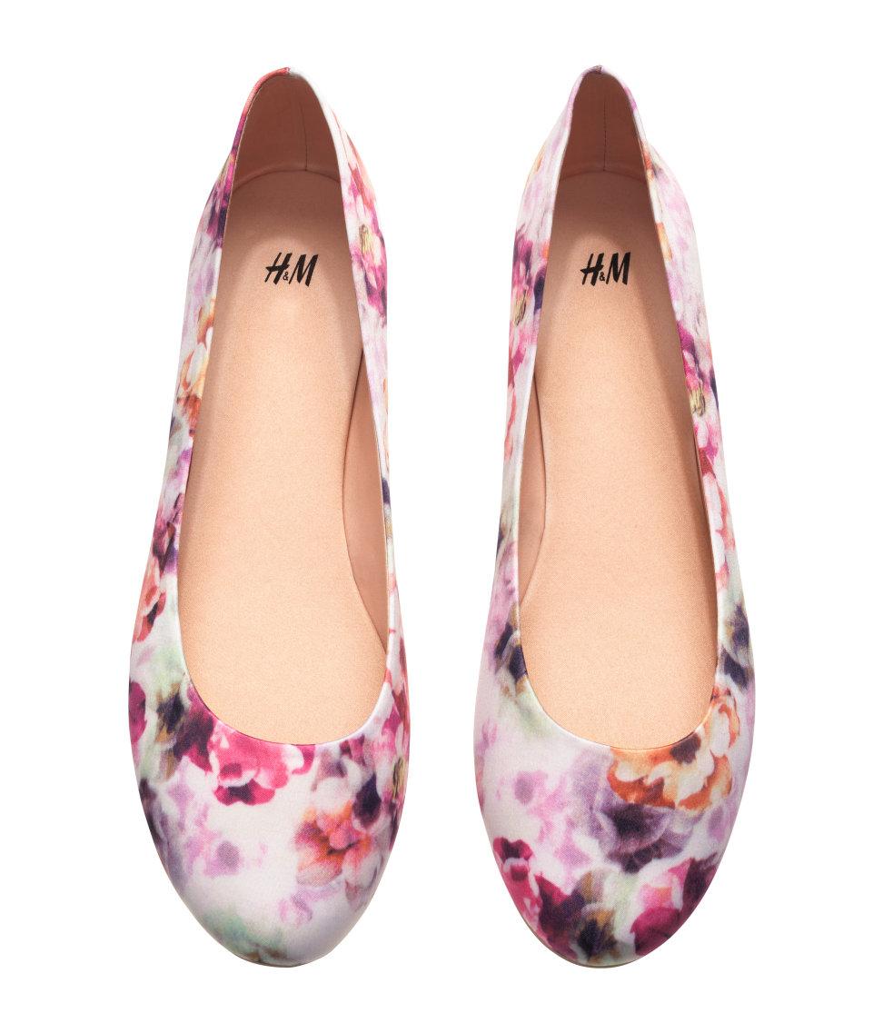 Lyst H Amp M Ballet Pumps In Pink