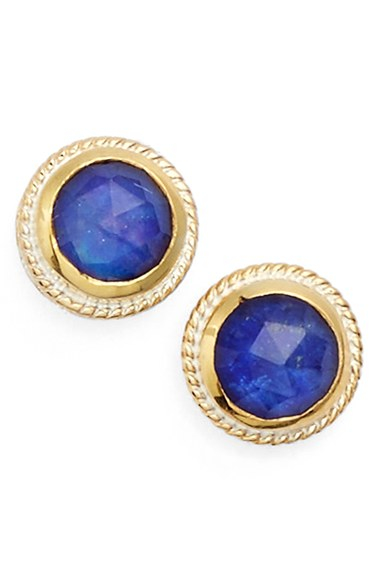 Lyst Anna Beck Stone Stud Earrings In Blue