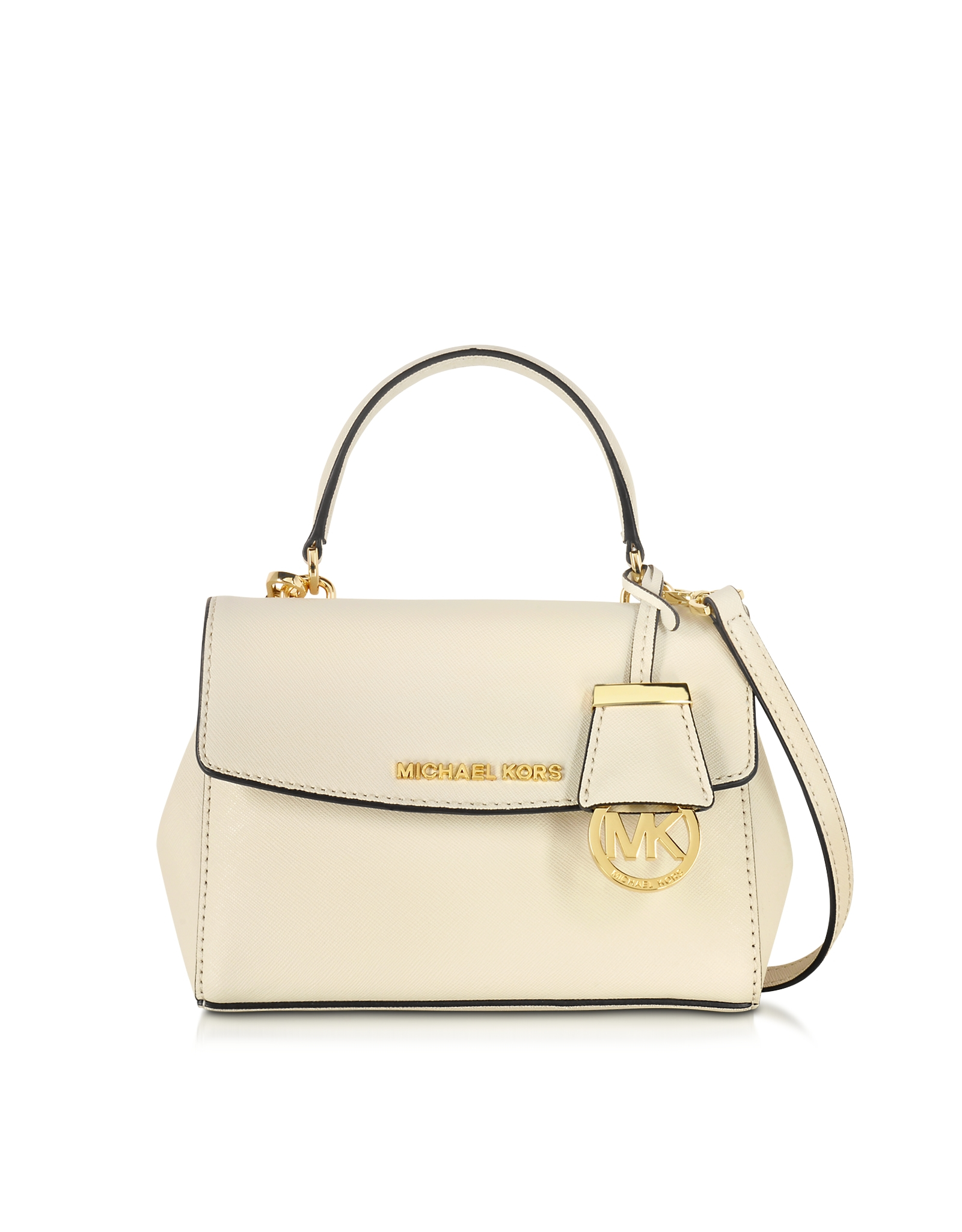 4403fdc7f7f0 Michael Kors Ava Ecru Saffiano Leather Extra Small Crossbody Bag in ...