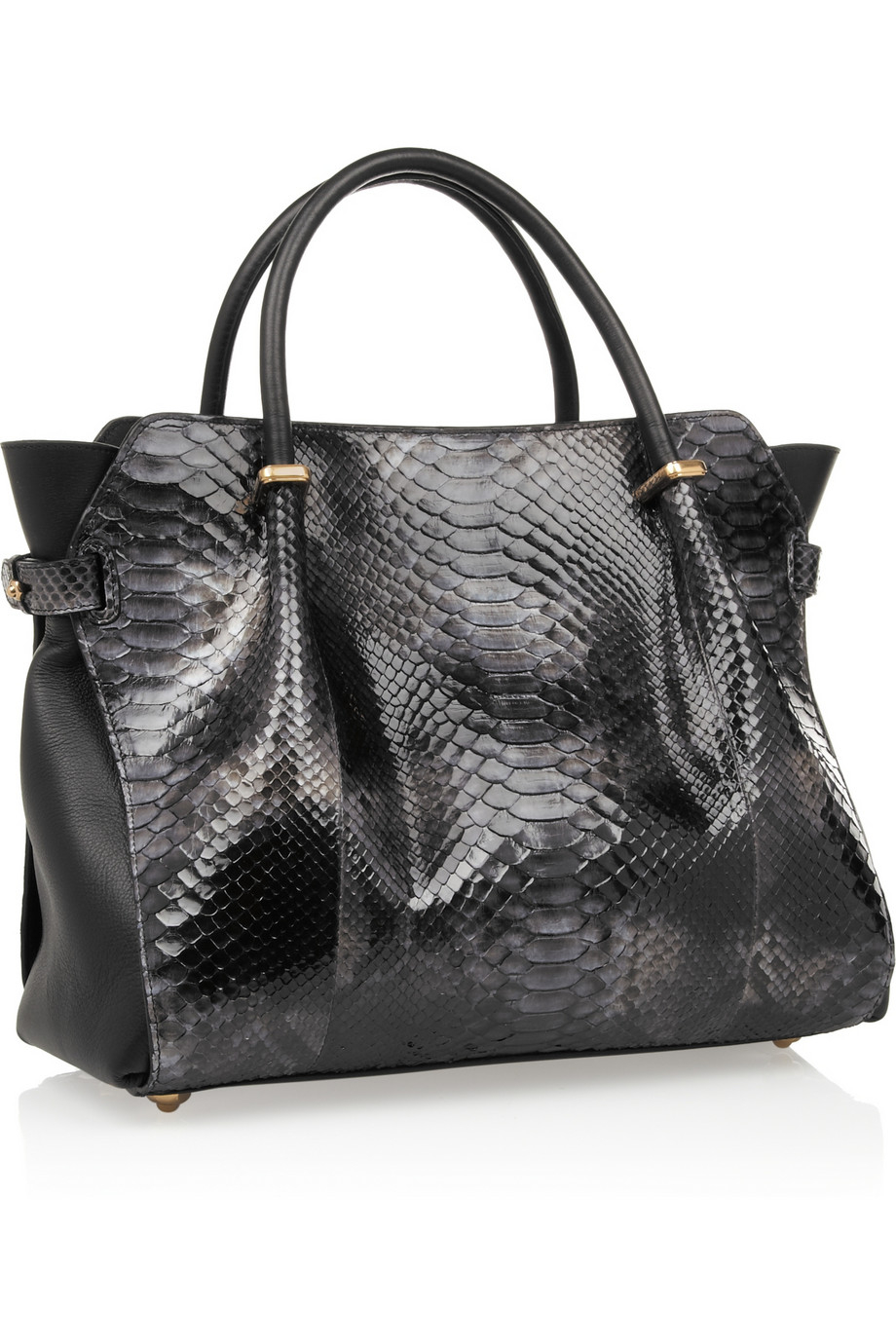 80eb1c048b Nina Ricci Marché Small Python and Leather Tote in Black - Lyst