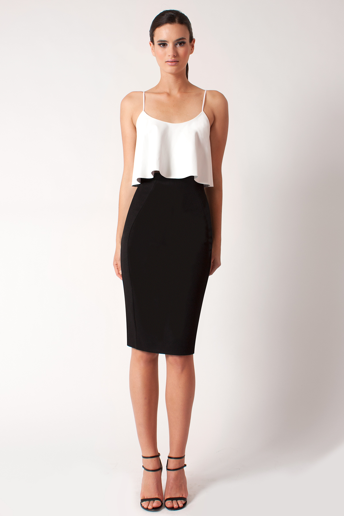 Black halo Genevieve 2 Piece Dress in White | Lyst