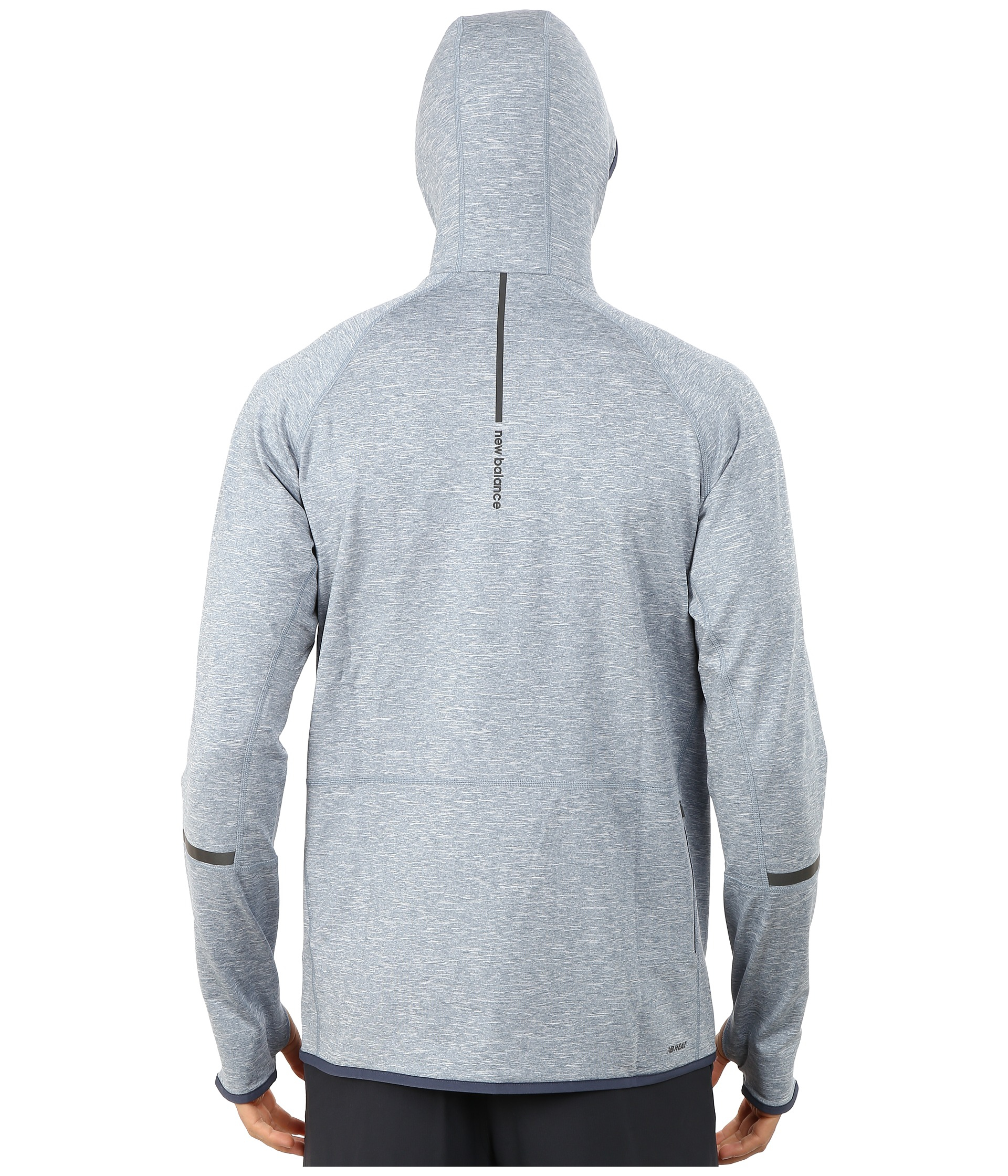 47ea4e3a3c620 New Balance Nb Heat Pullover Hoodie in Blue for Men - Lyst