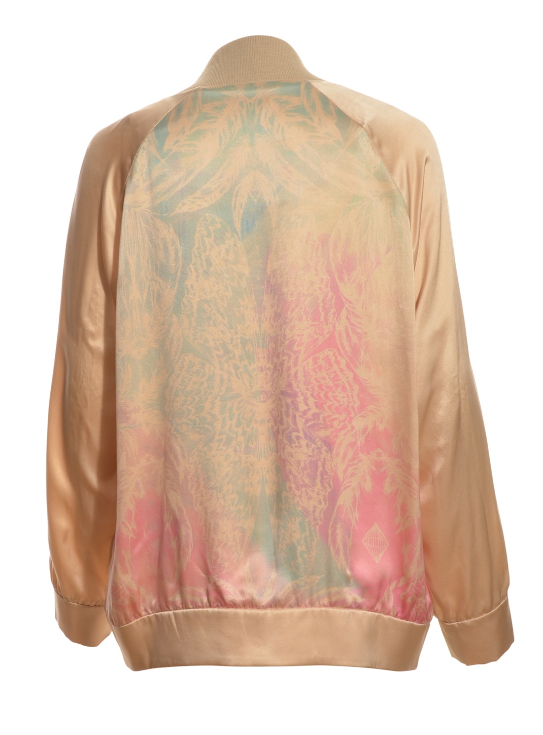 Draw in light Silk Bomber Jacket in Opium Butterfly Print By in ...