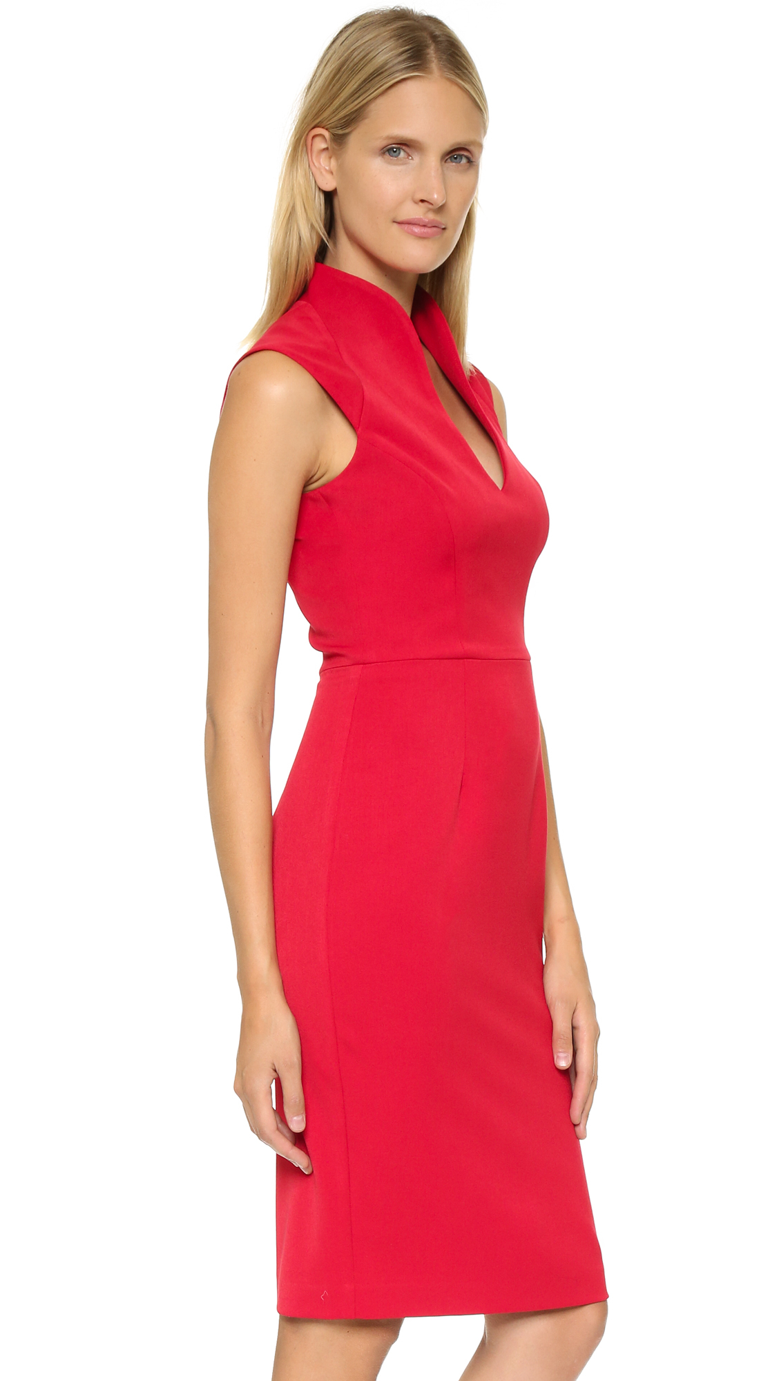 Black halo Zara Sheath Dress in Red | Lyst