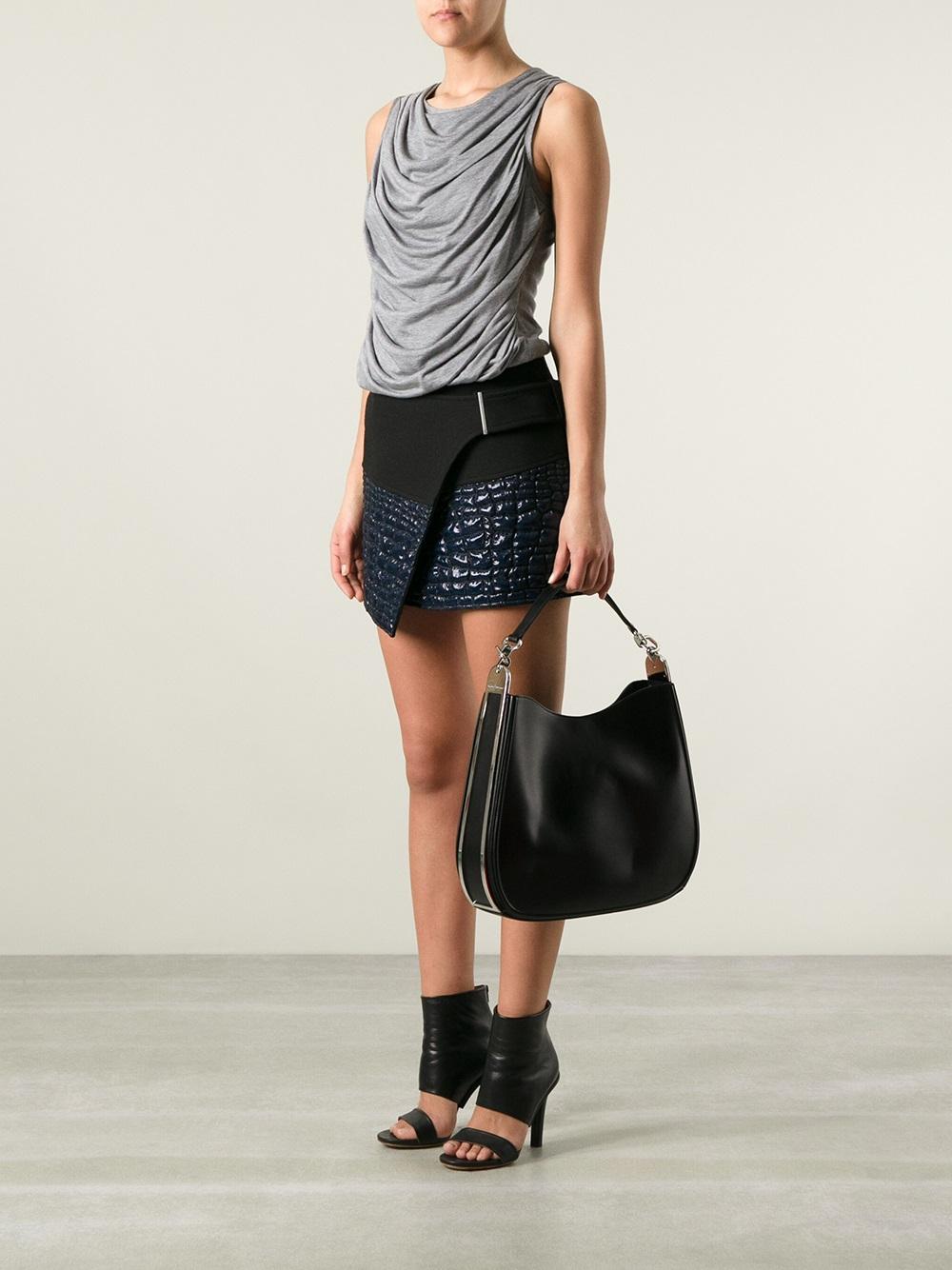 Lyst - Ferragamo Hobo Bag in Black 3d231492fc895