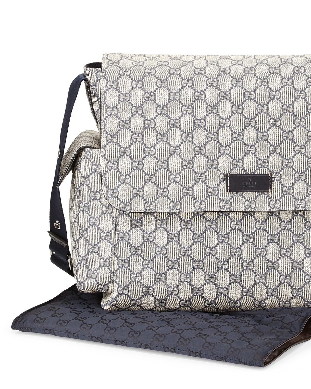 76c69743da3 Lyst - Gucci Ssima Faux-leather Diaper Bag W  Changing Pad in ...