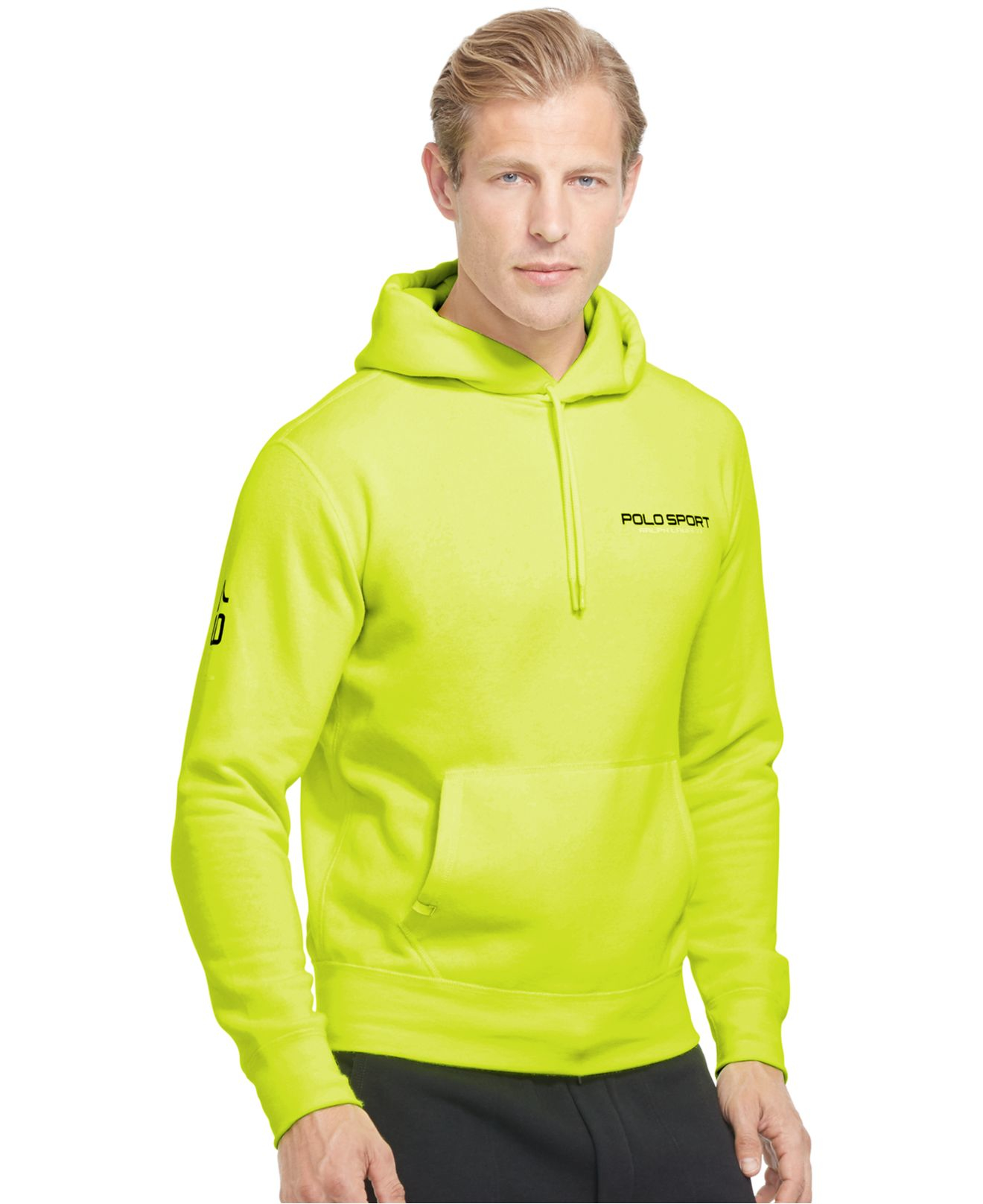 Polo ralph lauren Polo Sport Neon Fleece Pullover Hoodie in Yellow ...