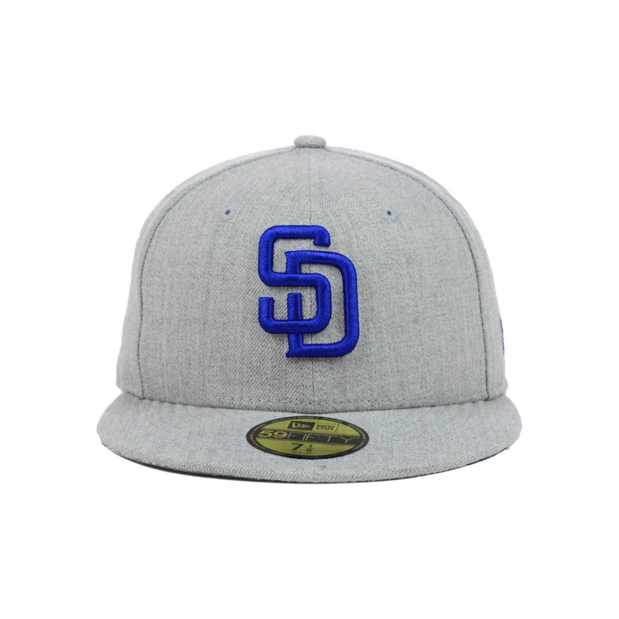 b82236fccd4e3 ... cheap fitted hat lyst ktz san diego padres mlb heather basic 59fifty  cap in gray b6d39