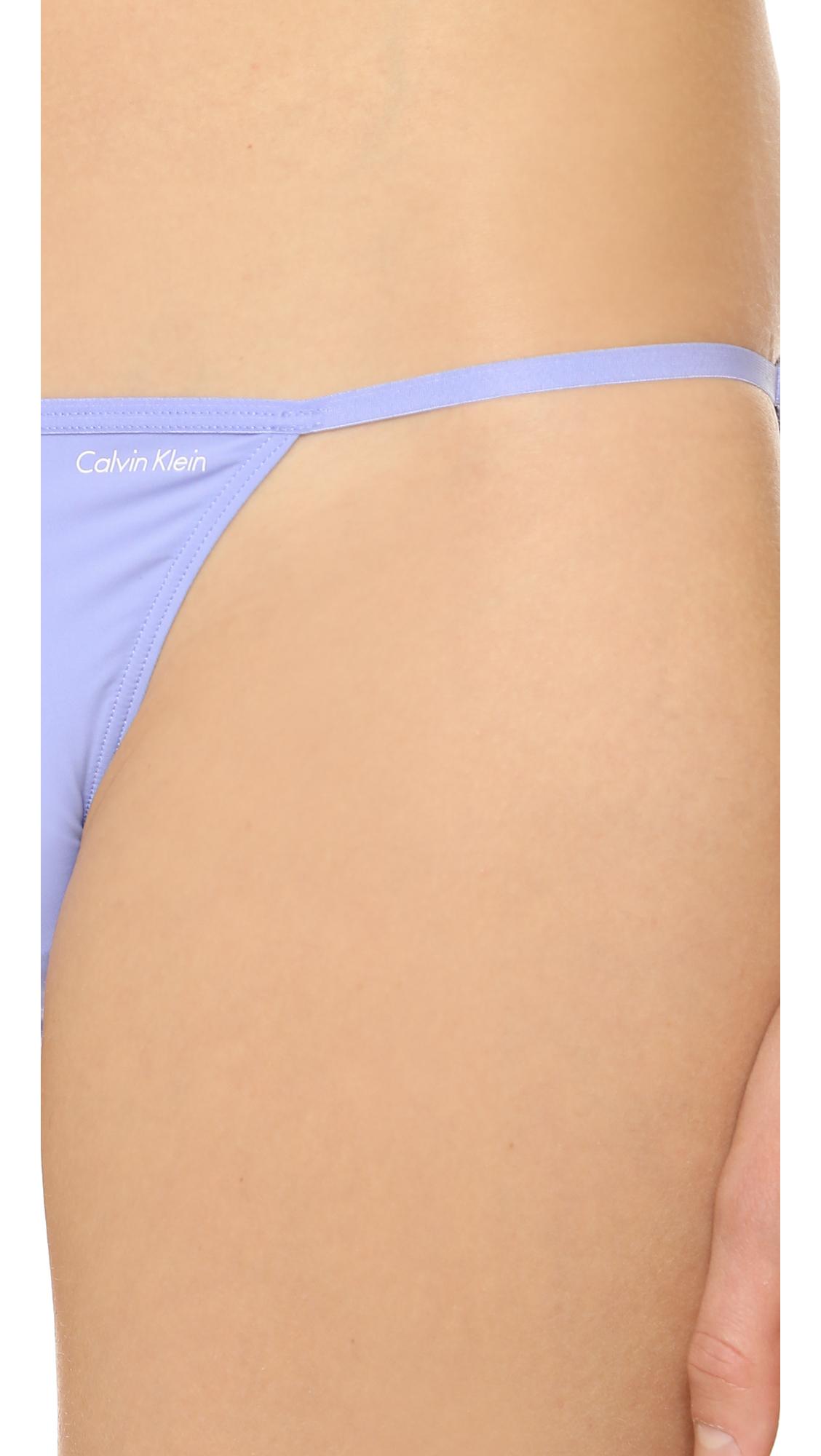 1c0f0524596 Calvin Klein Sleek String Bikini Panties - Sonoma in Purple - Lyst